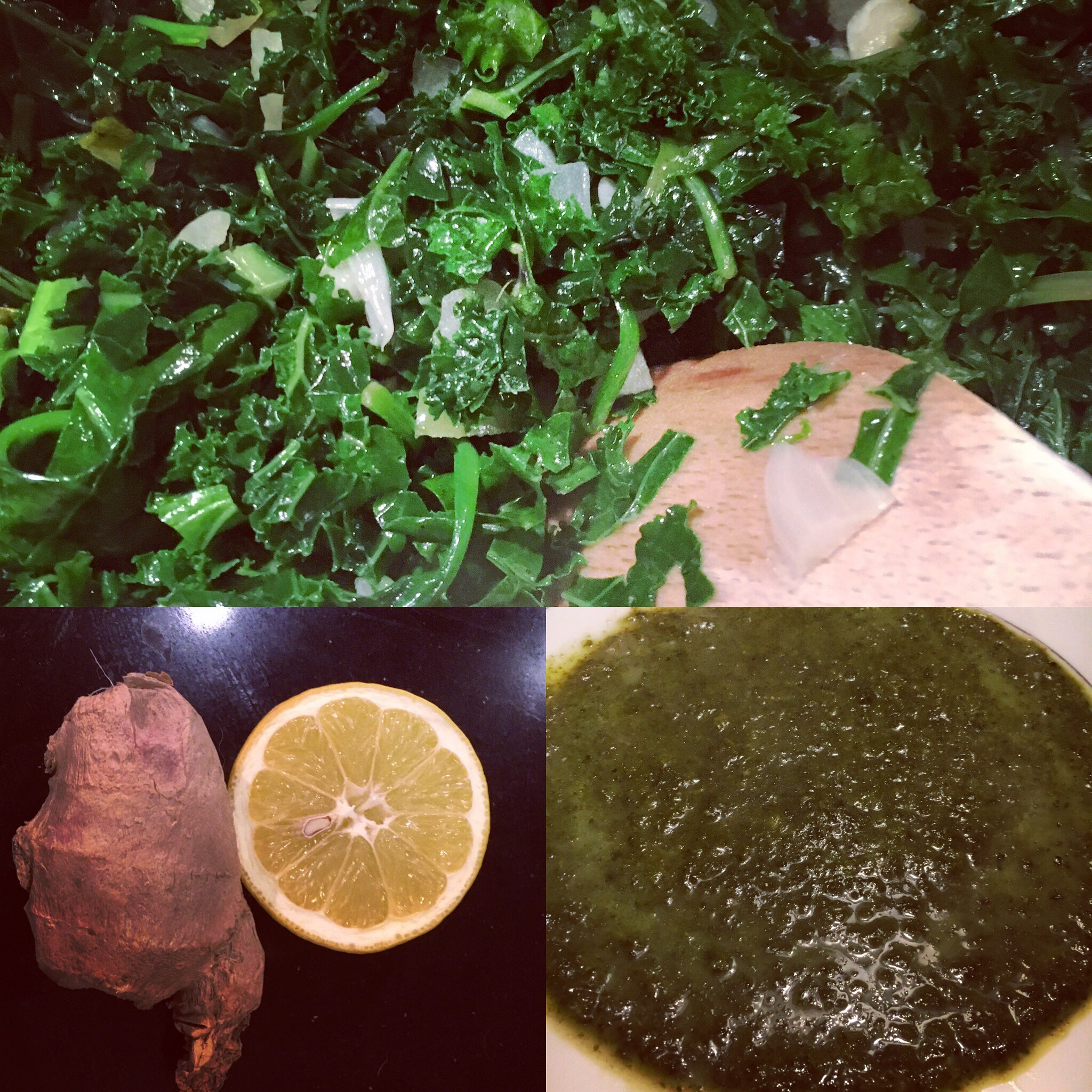 Kale and spinach soup